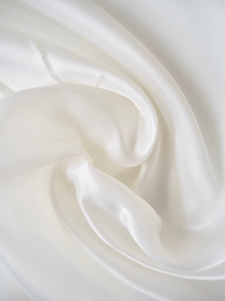 White Satin Viscose Lining