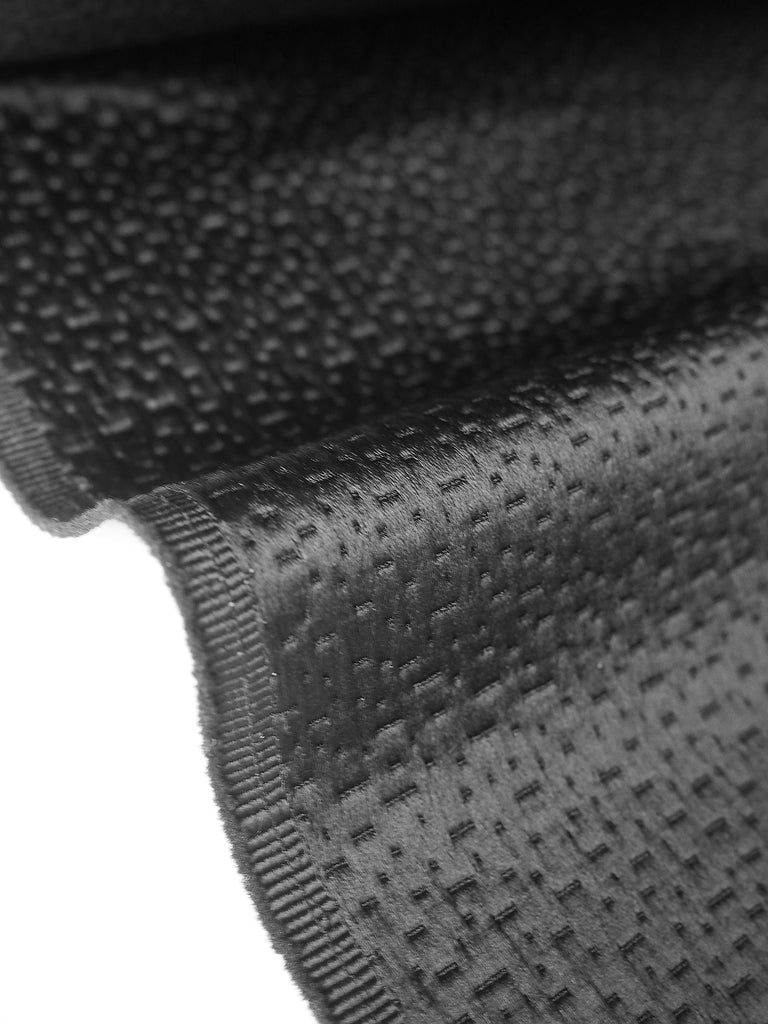 Black Textured Satin Jacquard
