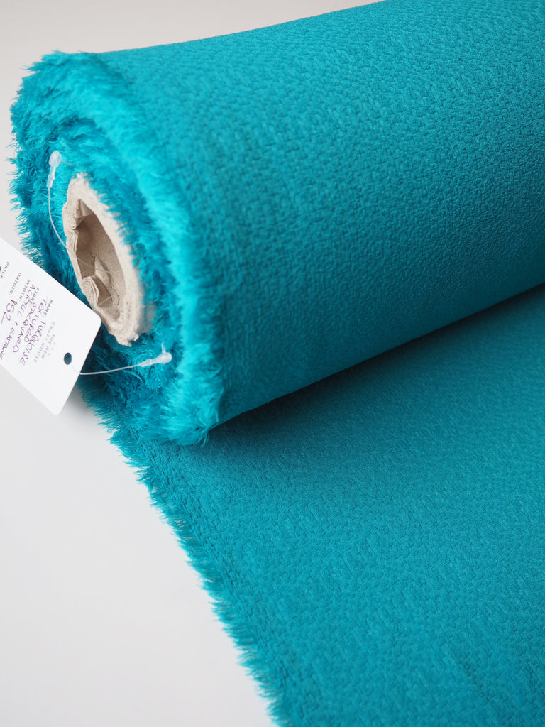 Turquoise Textured Jacquard