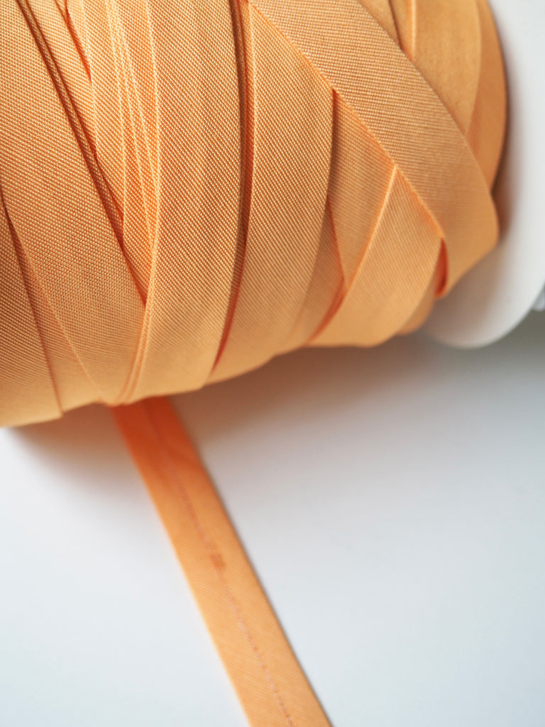 Tangerine Cotton Faille Bias Binding 14mm