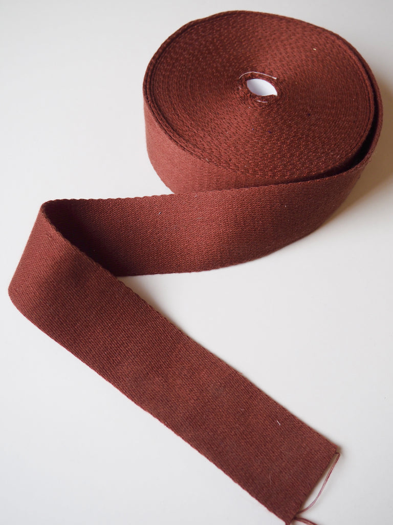 Rust Cotton Webbing 50mm