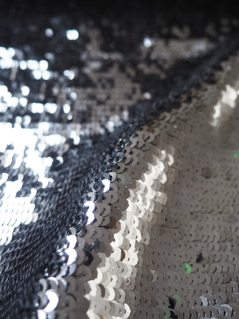 Silver Linear Sequin