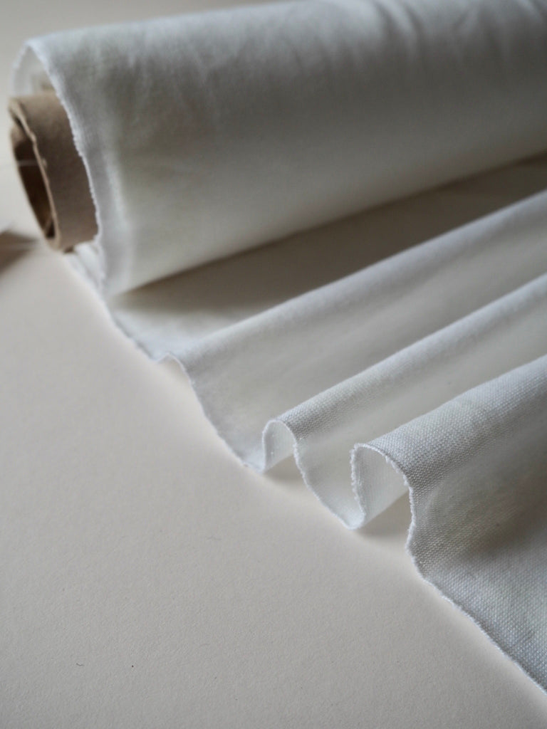White Midweight Cotton Jersey