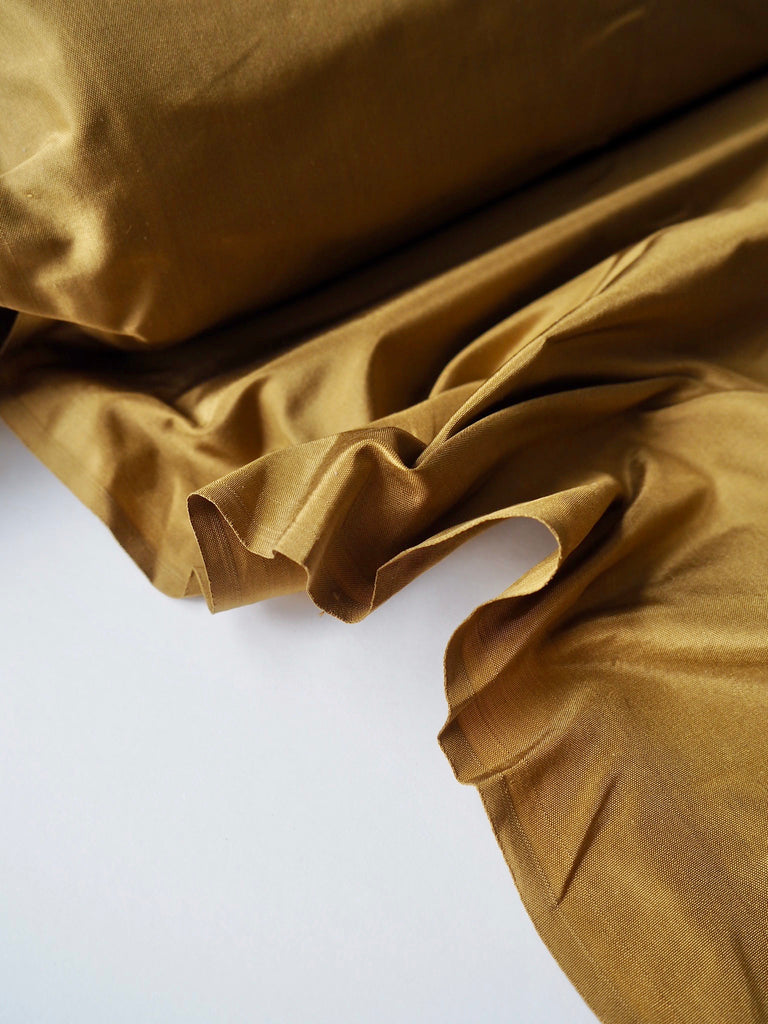 Mustard Gold Raw Silk Dupion