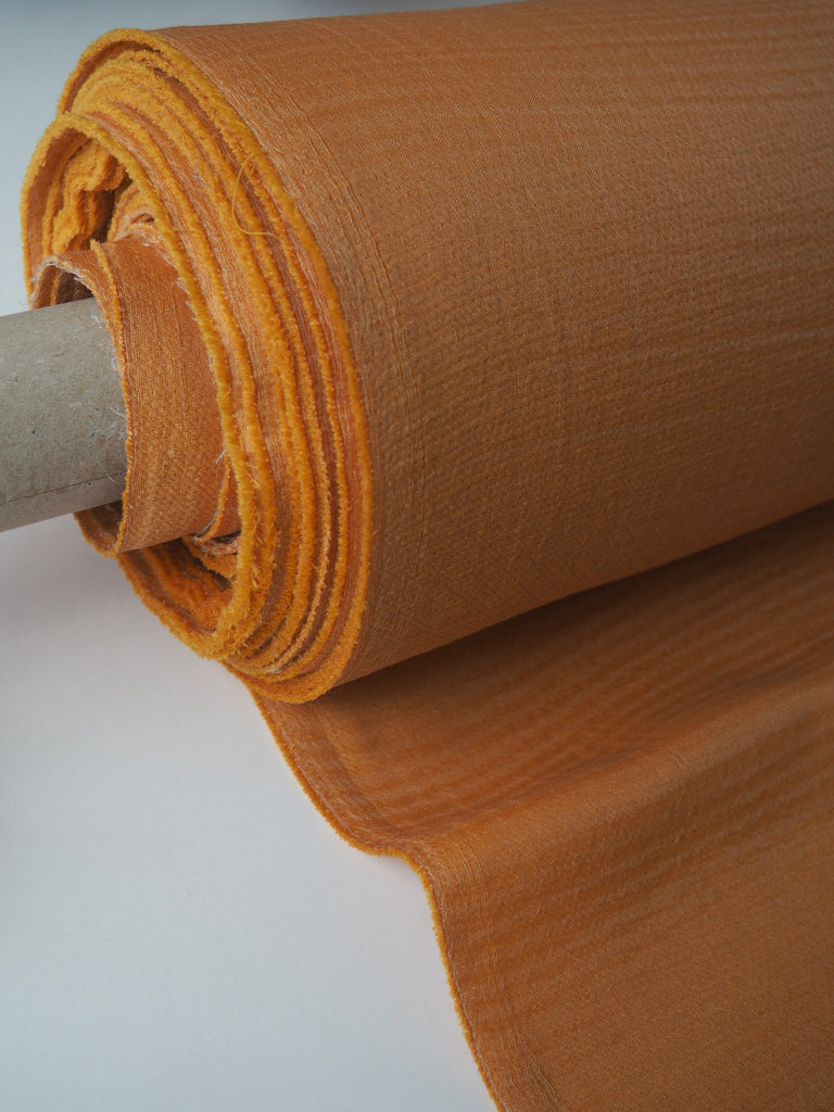 Saffron Wool and Viscose Double Organza