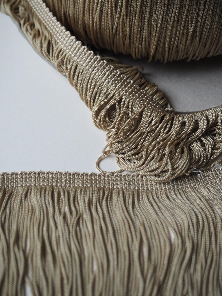 Straw Lampshade Straight Fringe Trim 9cm