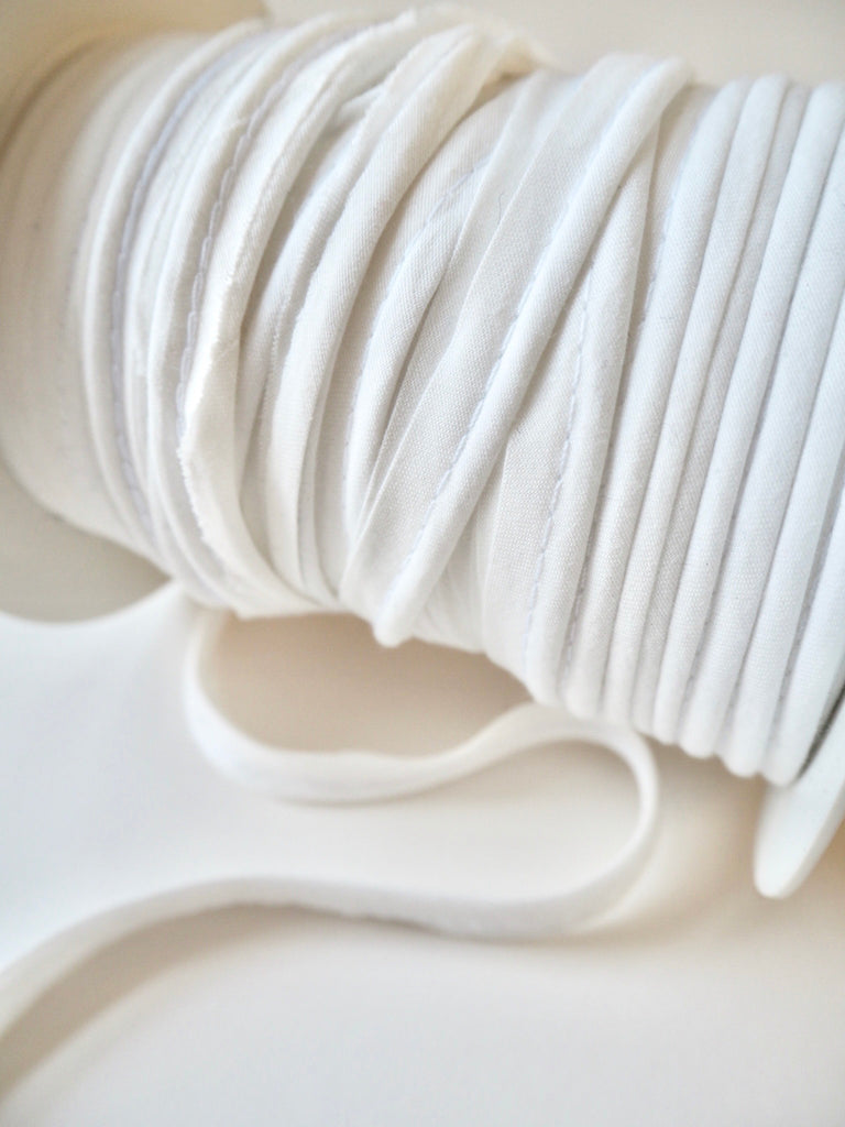 Ivory Polycotton Bias Piping