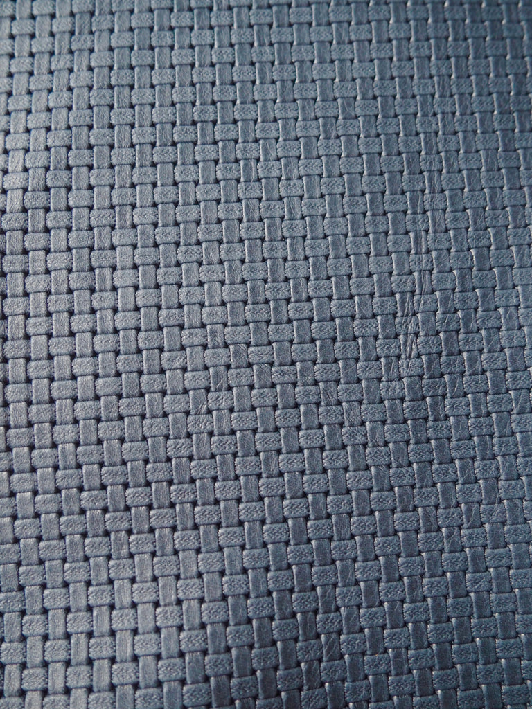 Embossed Navy Basketweave Cow Hide Leather, 200x130cm (15)