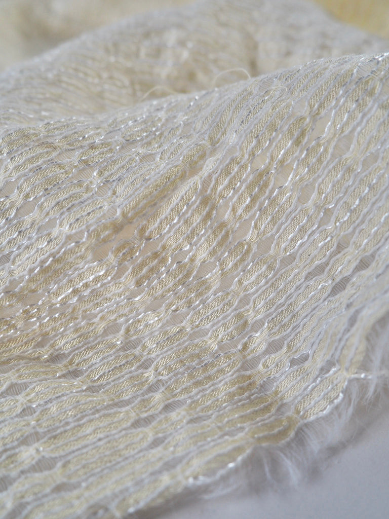 Pomona Golden Cream Corded Lace