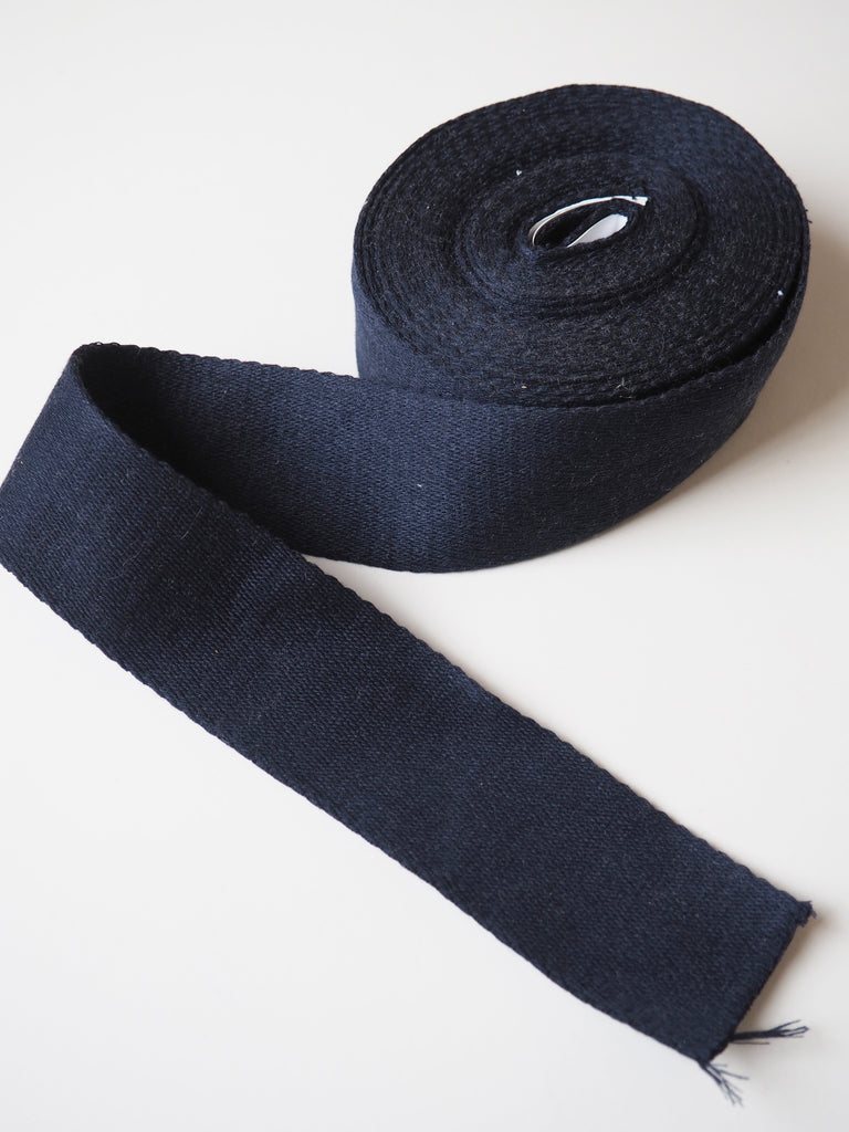 Navy Cotton Webbing 50mm