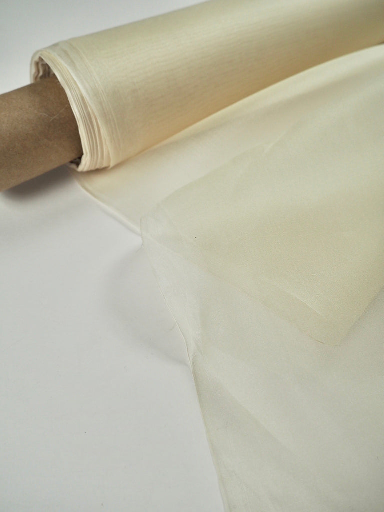 Cream Silk Organza