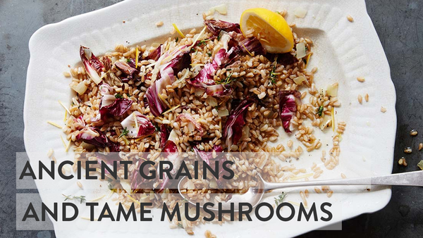Ancient Grains & Grilled Chicories - Farro Recipe