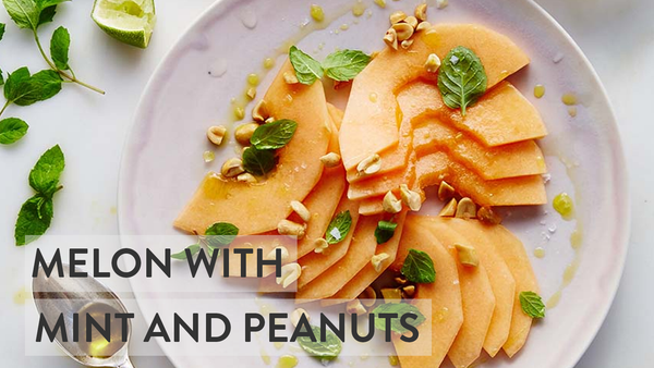 Melon with Mint & Peanuts - Healthy Snacks