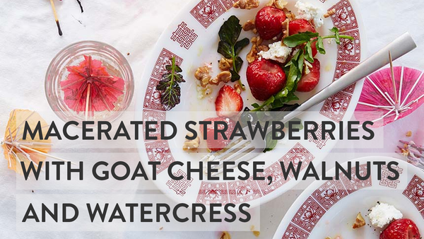 Strawberry & Goat Cheese Appetizer - Healthy