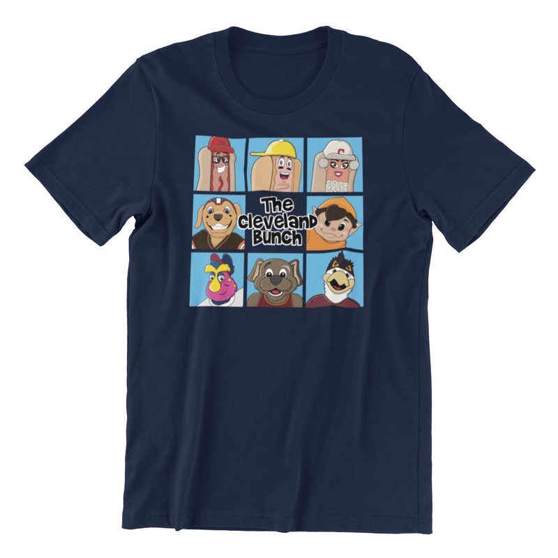 The Cleveland Bunch Sports Mascots Graphic T-Shirt