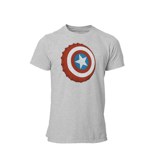 Captain America Bottle Cap Graphic T-Shirt