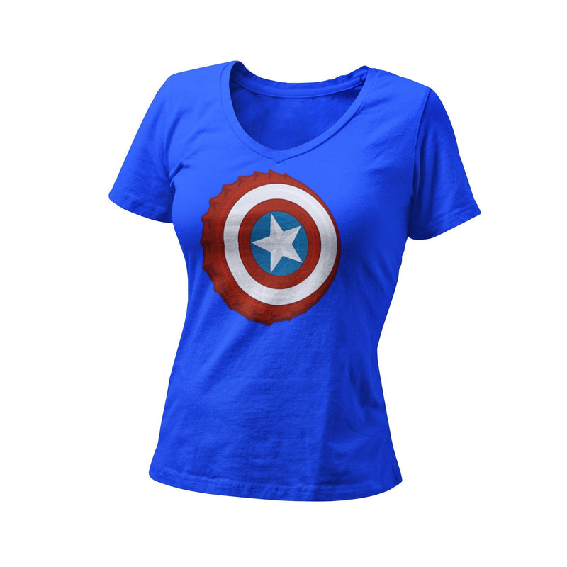 Captain America Bottle Cap Women's Graphic T-Shirt