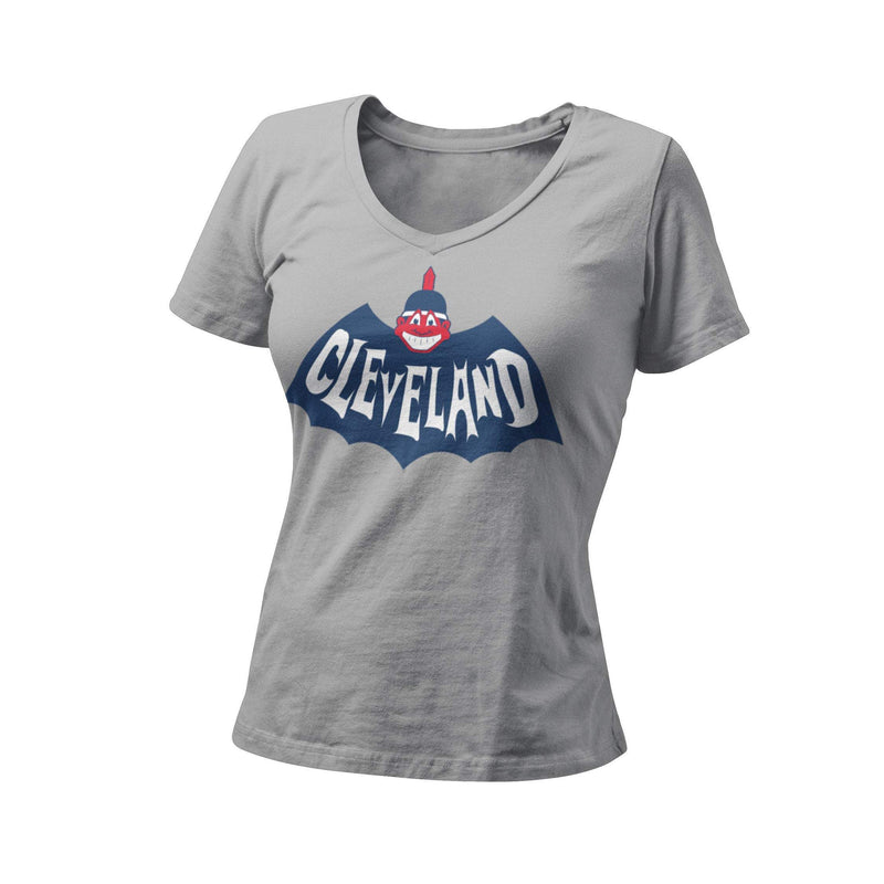 Cleveland Indians Baseball Batman Chief Wahoo Graphic Women's T-Shirt