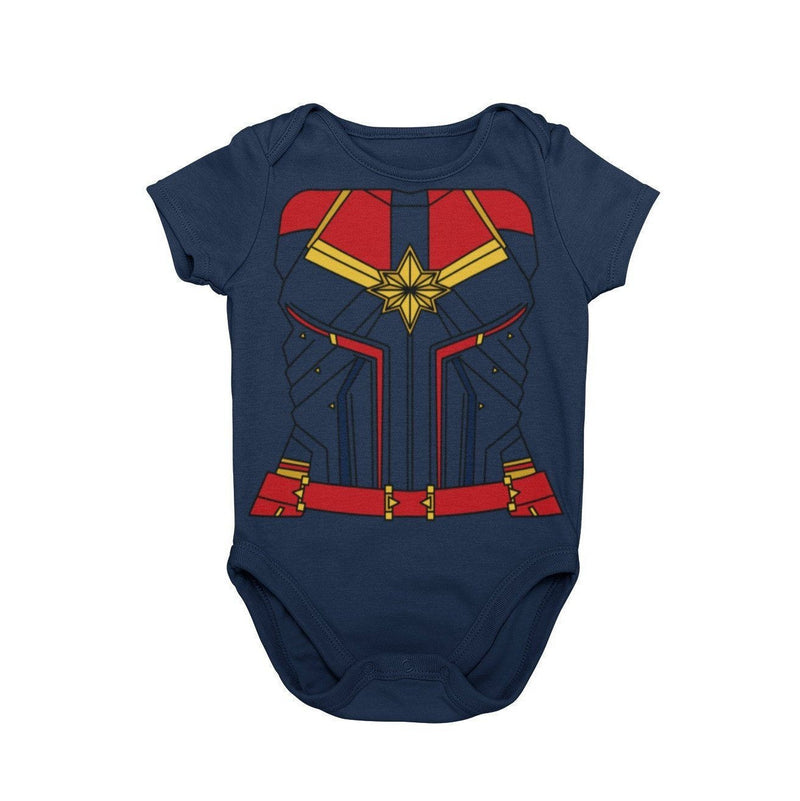 Captain Marvel MCU Character Baby Cosplay Halloween Costume Onesie