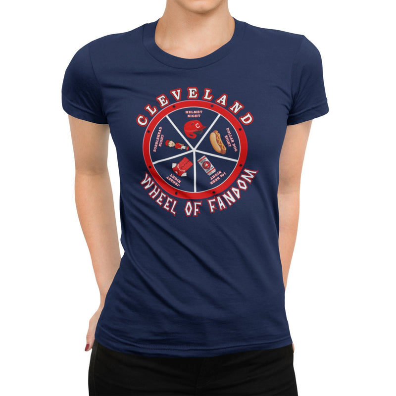 Cleveland Wheel Of Fandom Unisex Shirt | Cleveland Baseball Graphic T-Shirt | CLE 440 216 | Cleveland Or Bust | Ohio Made Local Artist