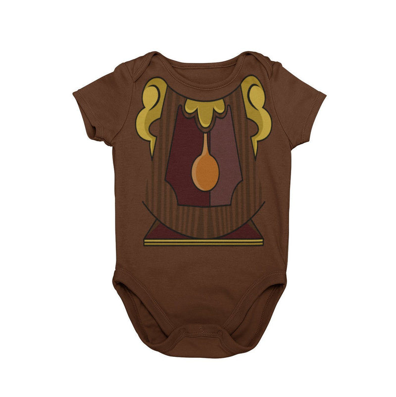 Beauty and the Beast Cogsworth Clock Baby Character Halloween Costume Onesie