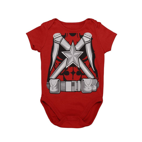 Black Widow Red Guardian Baby Character Cosplay Halloween Costume Onesie