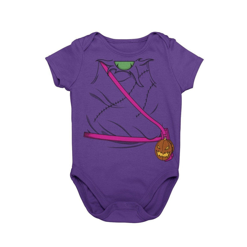 Green Goblin Spiderman Villain DC Comics Halloween Costumer Baby Onesie