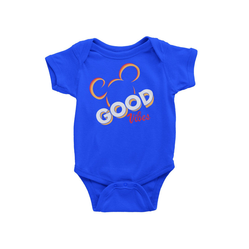 Disney World Disneyland Vacation t-shirt Good Vibes Mickey Mouse Baby Onesie Bodysuit