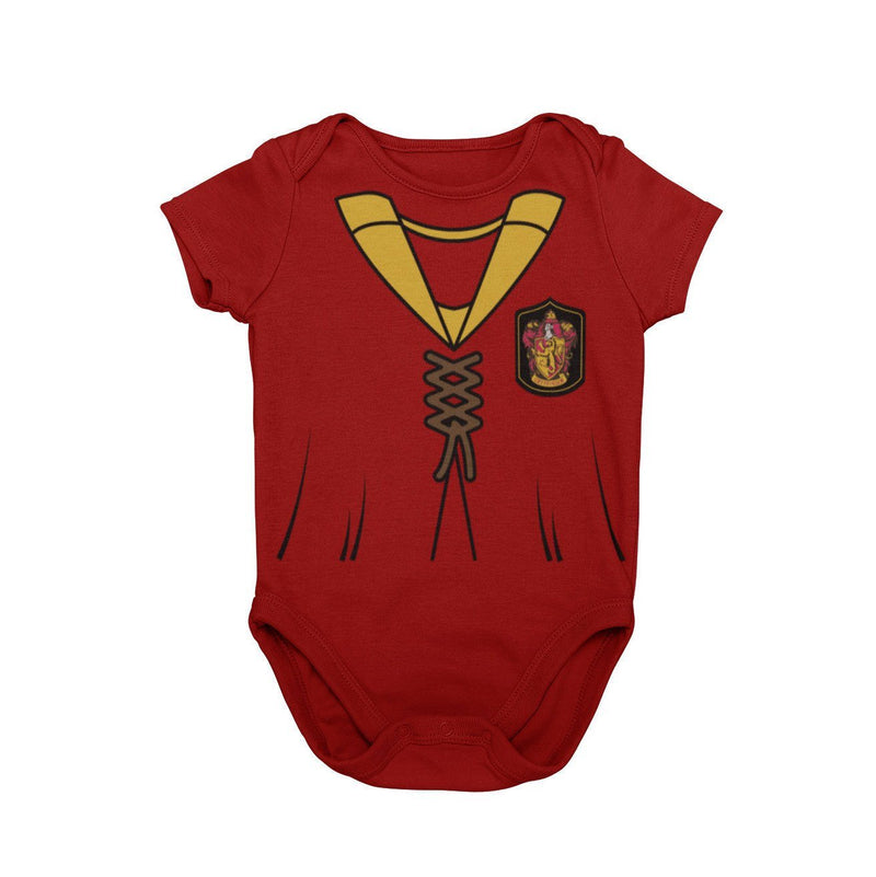 Gryffindor Harry Potter Quidditch Golden Snitch Baby Character Costume Cosplay Halloween Costume Onesie