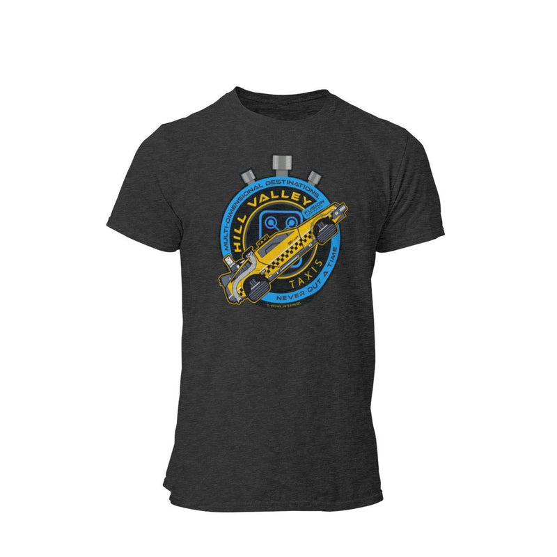 Back To The Future Doc Brown Flux Capacitor Hill Valley Taxi Company Graphic T-Shirt