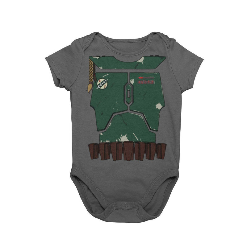 Bounty Hunter Boba Fett Star Wars Disney Galaxy's Edge Baby Onesie Halloween Cosplay Bodysuit