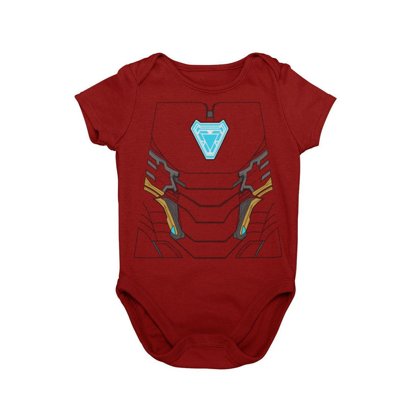 Iron Man Marvel Disney Tony Stark Ironman RDJ Baby Cosplay Bodysuit Halloween Onesie