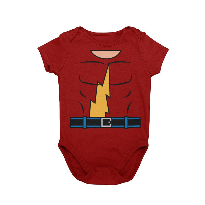 Jay Garrick The Flash Comic Book Baby Character Cosplay Halloween Costume Onesie