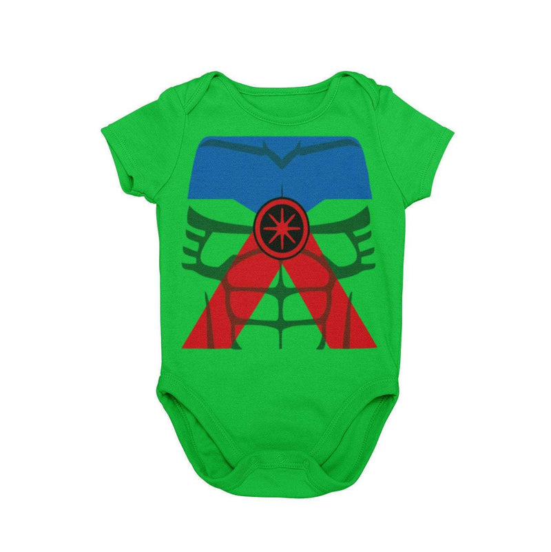 Martian Manhunter DC Superhero Baby Character Cosplay Halloween Costume Onesie