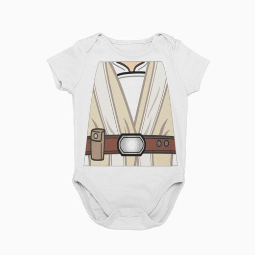Luke Skywalker Jedi Master Star Wars Baby Character Cosplay Halloween Costume Onesie
