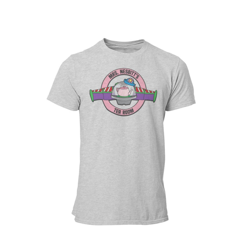 Mrs Nesbit Tea Room Unisex Shirt | Toy Land Graphic T-Shirt | Unique Matching Family Orlando Theme Park Vacation | Woody and Buzz T-Shirt
