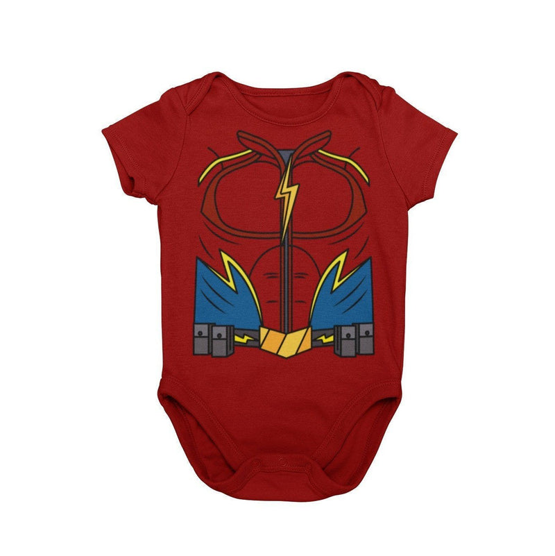 The Flash Jay Garrick Superhero Baby Character Cosplay Halloween Costume Onesie