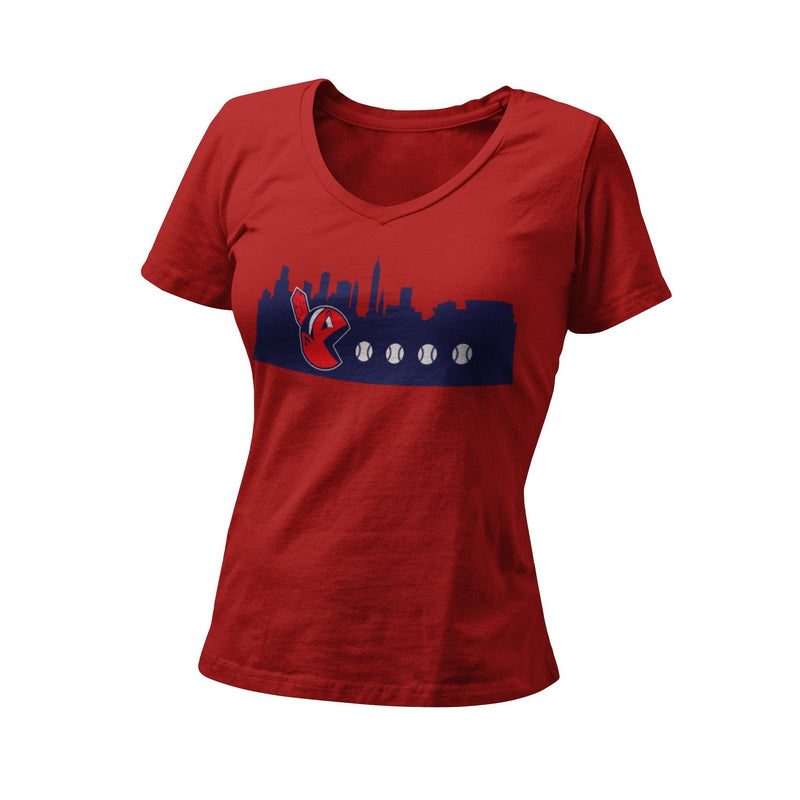 Cleveland Indians Baseball Chief Wahoo Pac Women's Graphic T-Shirt