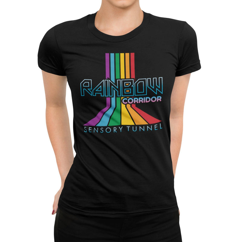 Rainbow Corridor Sensory Tunnel Unisex Shirt | Retro Theme Park Attraction Unique Graphic T-Shirt | Orlando Florida Family Vacation Tee