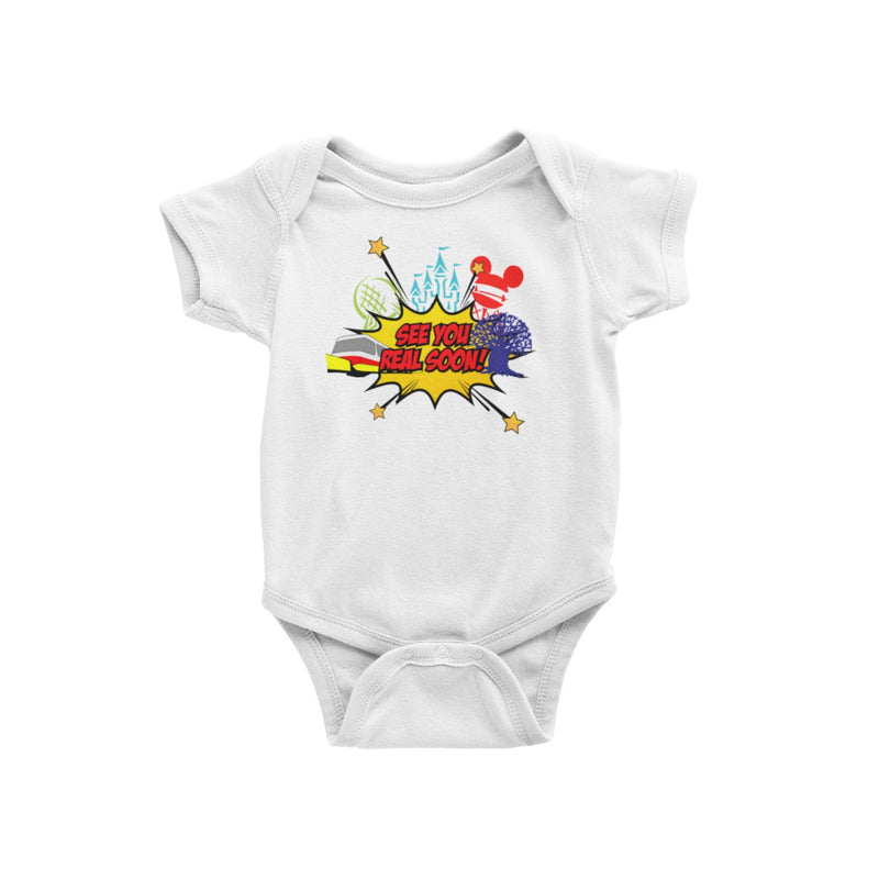 See You Real Soon Walt Disney World Disney Parks Orlando Vacation Baby Onesie