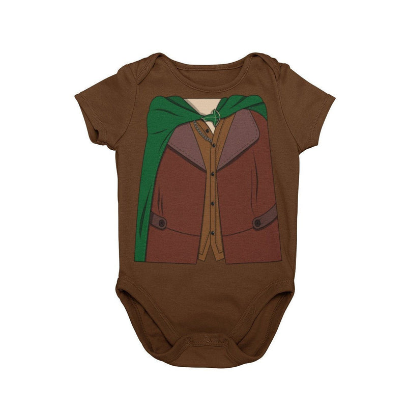 The Hobbit Bilbo Baggins Lord of the Rings Baby Character Costume Cosplay Halloween Costume Onesie