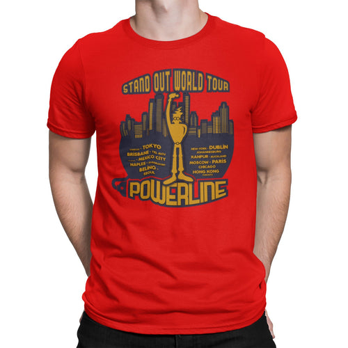 Stand Out World Tour Unisex Tee | Powerline T-Shirt | Stand Out Tour Tee | Unique Orlando Theme Park Shirt | 90s Movie Graphic T Shirt