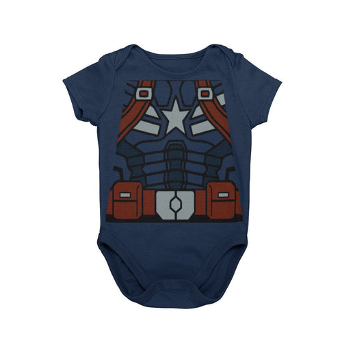 Captain America Steve Rogers Super Soldier Avengers Marvel The First Avenger Disney Baby Character Costume Cosplay Halloween Costume Onesie