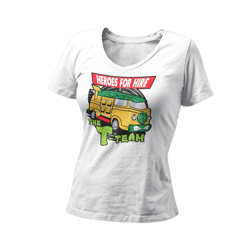 Teenage Mutant Ninja Turtles TMNT T-Team Heroes For Hire Women's Graphic T-Shirt