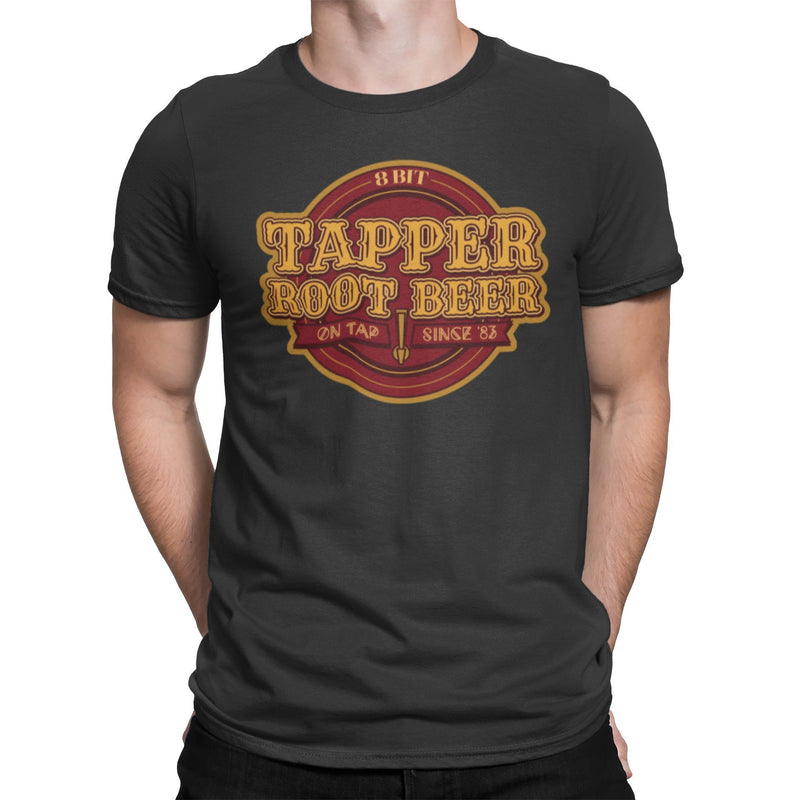 Tapper's 8-Bit Root Beer Unisex Shirt | Retro Video Game Arcade Graphic T-Shirt | Unique Gift | Comic Con Tee | Ralph and Penelope T-Shirt
