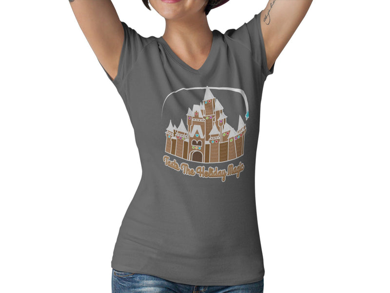 Taste The Magic Women's Fitted V-Neck Shirt