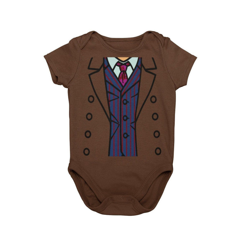 Dr Who 10th Doctor Tardis BBC Baby Character Costume Cosplay Halloween Costume Onesie