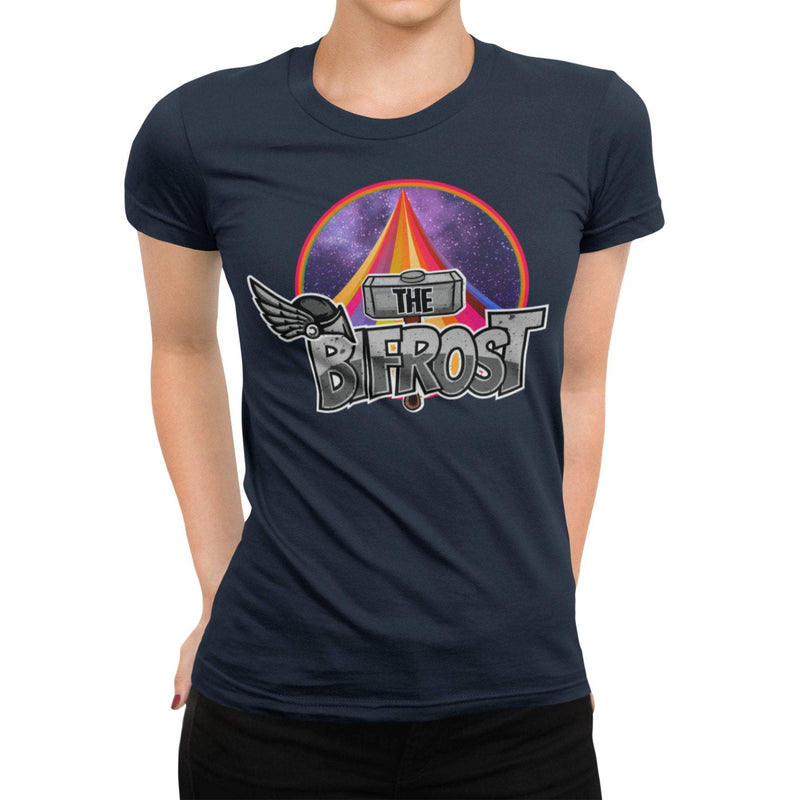 The Bifrost Unisex Shirt | Comic Book Rainbow Bridge Graphic T-Shirt | Unique Comic Con Shirt | Thor 9 Realms Odin T-Shirt | Kirby Style Tee