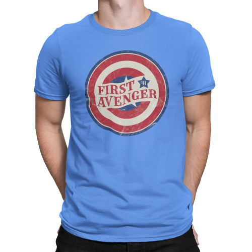 Vintage '41 Cap Unisex Shirt | Cap Shield Graphic T-Shirt | Unique Comic Con Superhero Tee | Super Solider | Kirby Drawing Style | Retro Cap