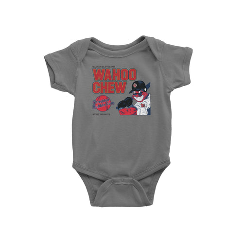 Cleveland Indians Wahoo CHew Bubble Gum Baby Onesie
